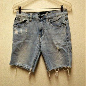 RSQ LONDON SKINNY DESTROYED CUTOFF JEAN SHORTS